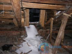 Чердак – задувание снега, разрушение балок, разрушение кровли