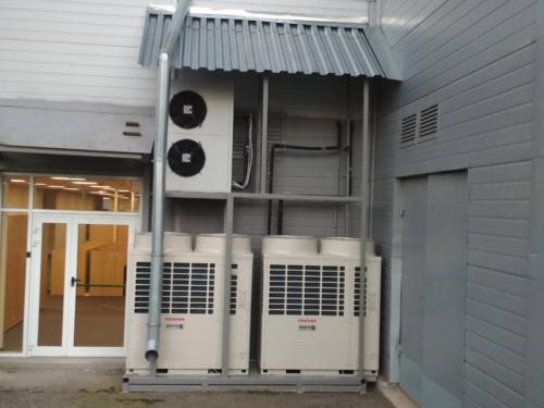 Смонтированные конструкции и навесы над системами кондиционирования и вентиляции