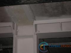 Опирание плит перекрытий, узел соединения несущих балок с колоннами
